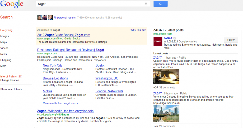 google enhanced search for brand pages